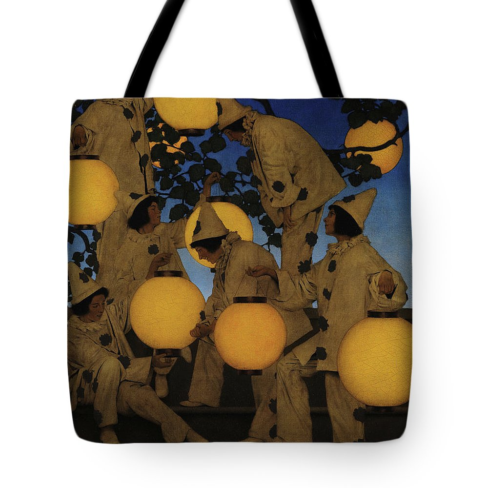 Maxfield Parrish Tote Bag featuring the painting Lantern Bearers 1 by Maxfield Parrish