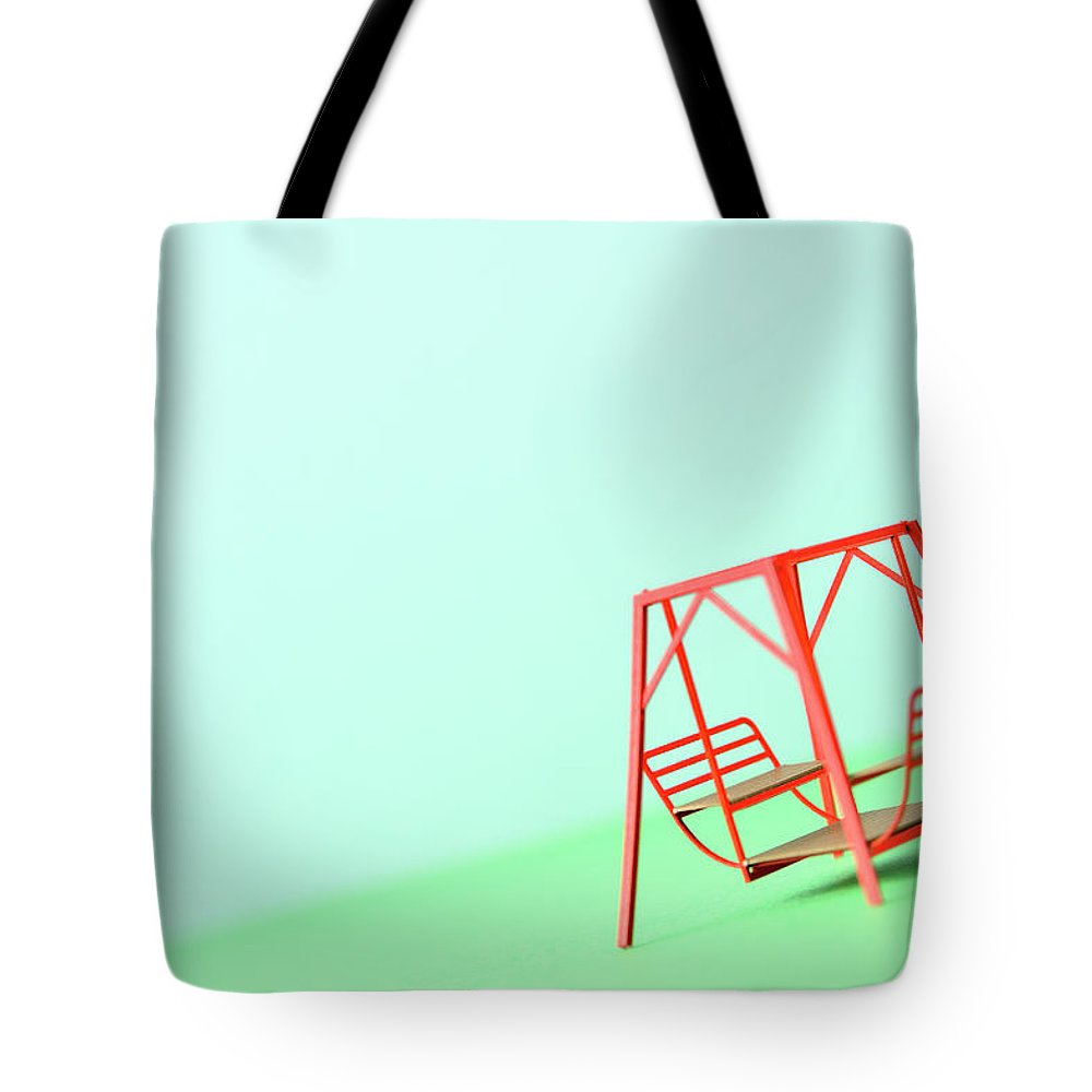 Paper Craft Tote Bag featuring the photograph The Model Of The Swing Made Of The Paper by Yagi Studio