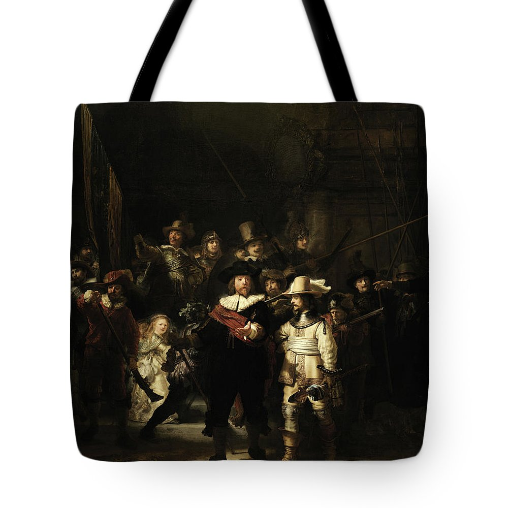 The Night Watch Tote Bag featuring the painting The Night Watch, 1642 by Rembrandt van rijn