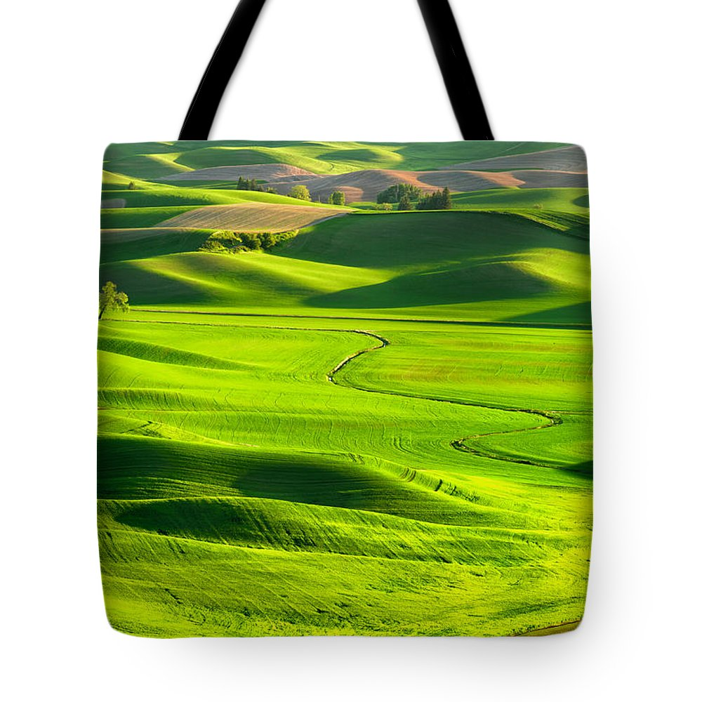 Scenics Tote Bag featuring the photograph The Palouse Rolling Hills by Justinreznick