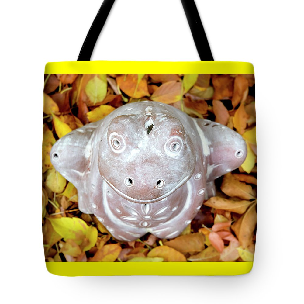 Frog Tote Bag featuring the photograph The Prince Of Fall by Melanie Maslaniec