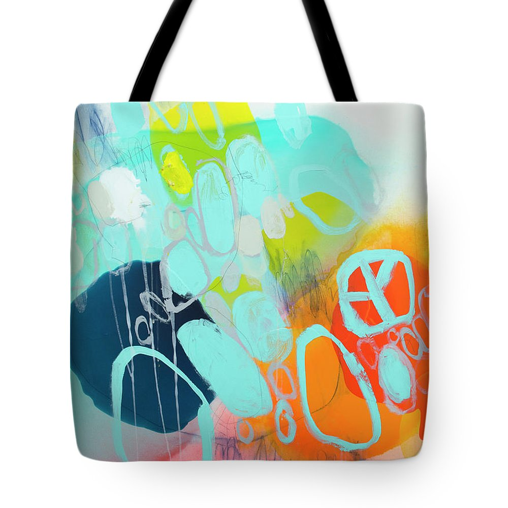 Abstract Tote Bag featuring the painting The Right Thing by Claire Desjardins