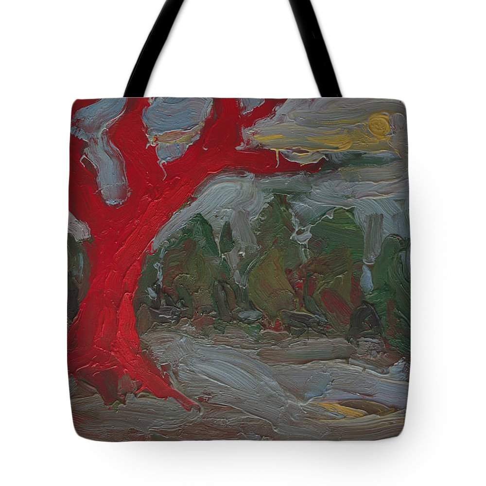 Tote Bag featuring the painting The Three Primary Colors Are The Unchanging Center Of The Stories by Michael Shipman