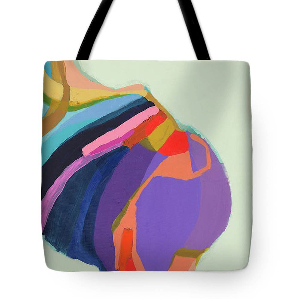 Abstract Tote Bag featuring the photograph The Waiting Game by Claire Desjardins