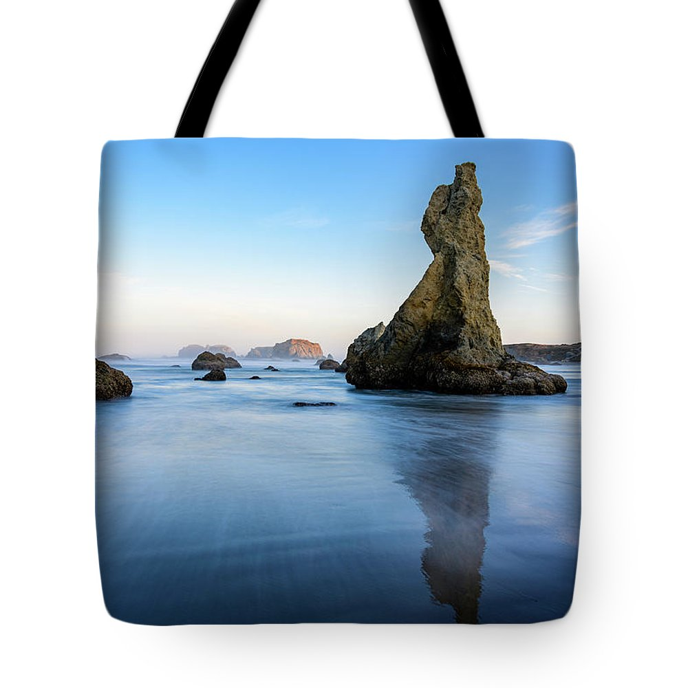 Bandon Beach Tote Bag featuring the photograph The Witchs Hat by Jim Thompson