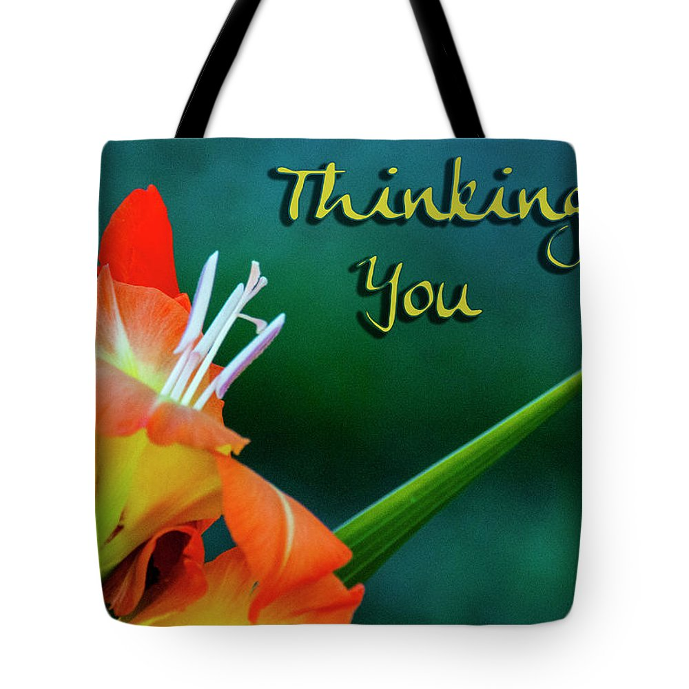 Card Tote Bag featuring the photograph Thinking Of You by Annette Persinger