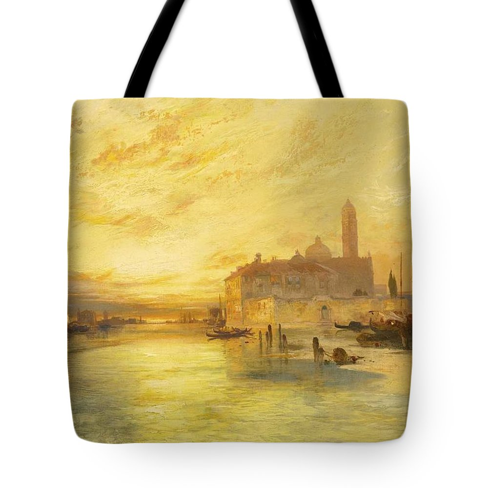 Nature Tote Bag featuring the painting Thomas Moran 1837-1926 Sunset In Venice by Thomas Moran