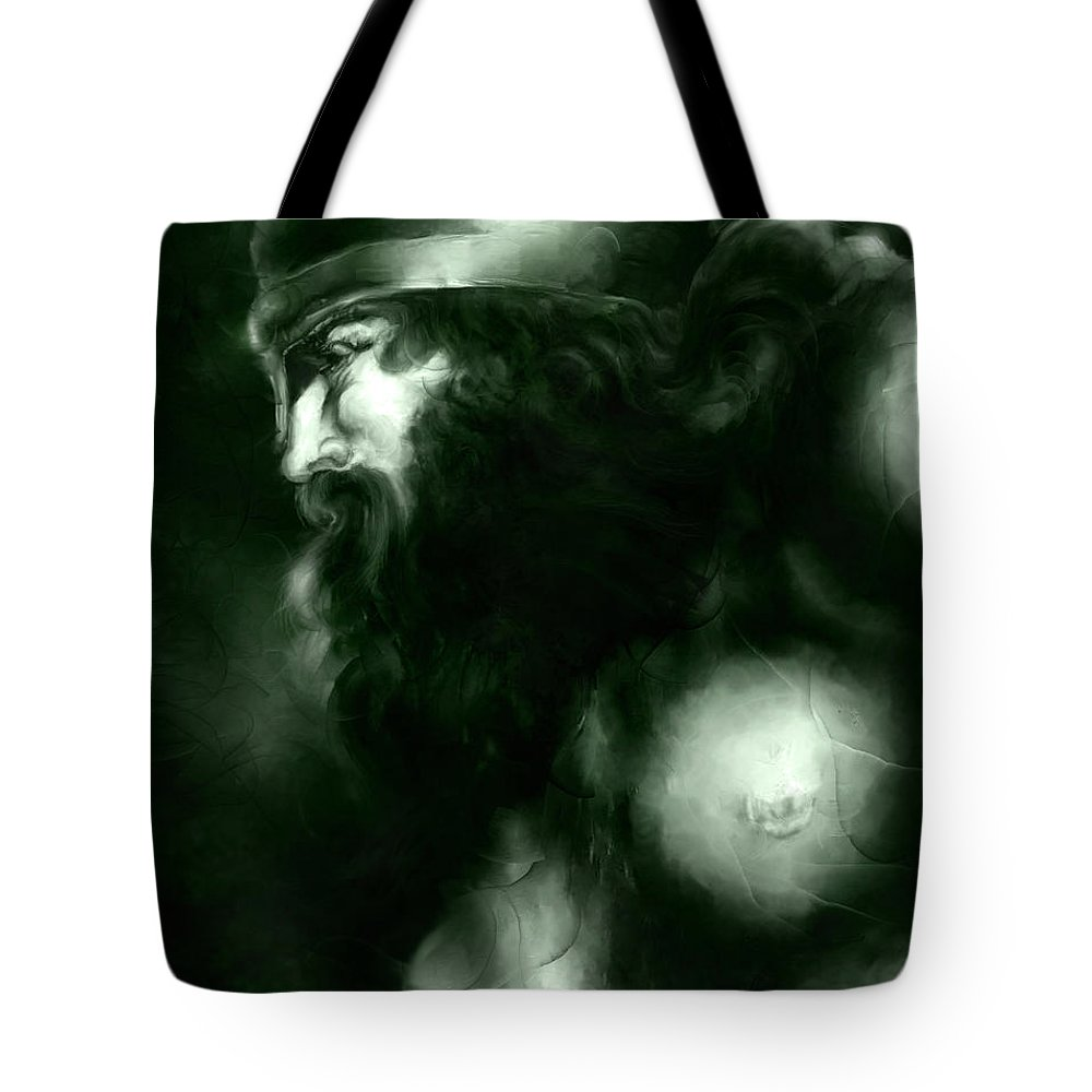 Thor Tote Bag featuring the mixed media Thor by Curtiss Shaffer