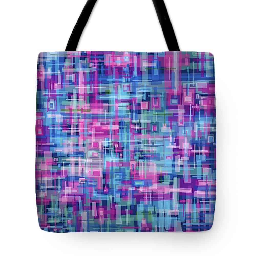 Nonobjective Tote Bag featuring the digital art Thought Patterns #4 by James Fryer