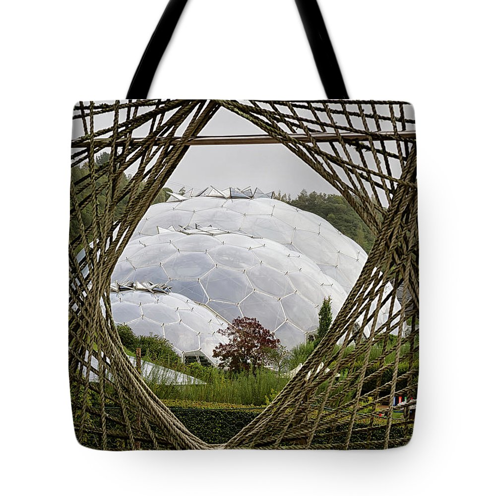 Cornwall Tote Bag featuring the photograph Through The Ropes by Shirley Mitchell