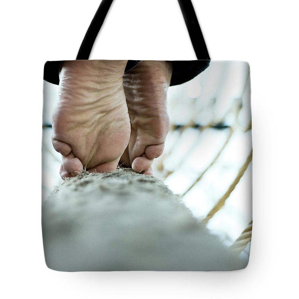 People Tote Bag featuring the photograph Tight Rope by Www.flickr.com/photos/persnicketydame