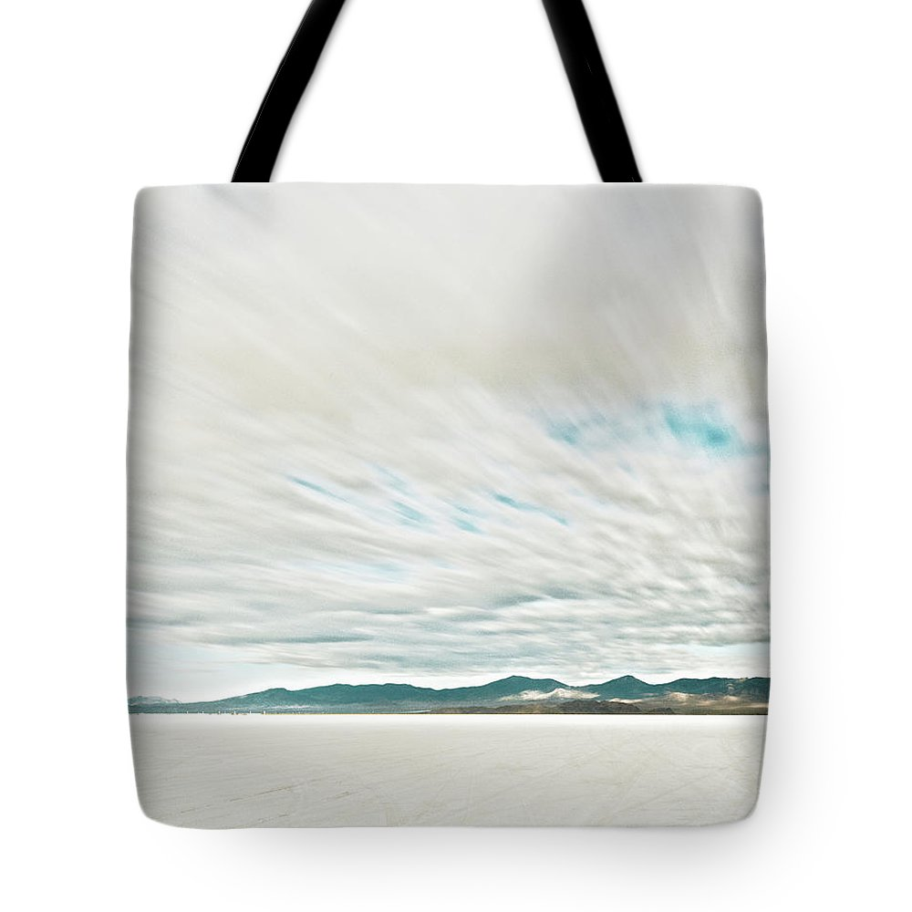 Tranquility Tote Bag featuring the photograph Time Exposure Clouds In Motion Above by Andy Ryan
