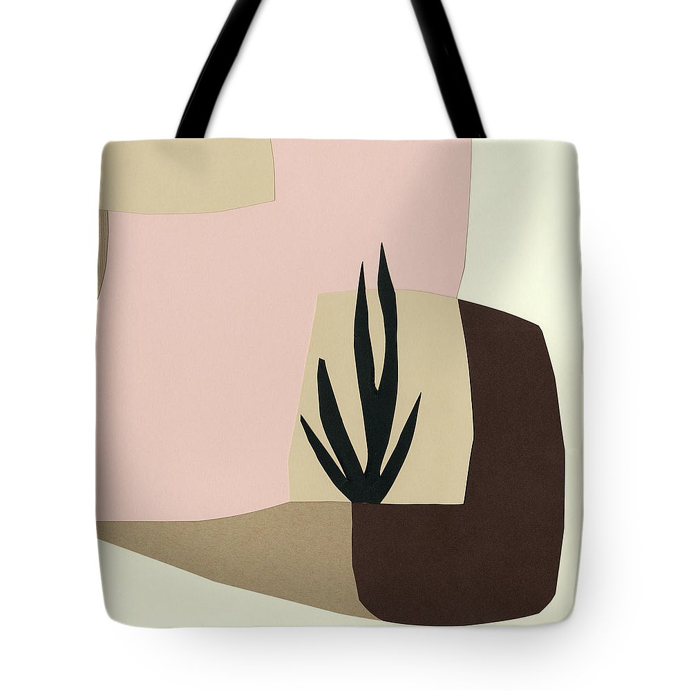 Abstract Tote Bag featuring the painting Tinted Dimensions I by Ren?e W. Stramel