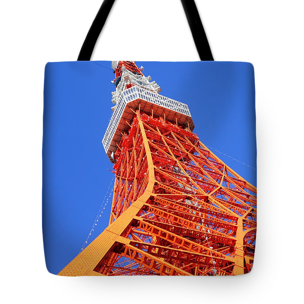 Tokyo Tower Tote Bag featuring the photograph Tokyo Tower by Ngkaki