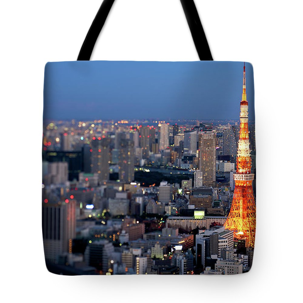 Tokyo Tower Tote Bag featuring the photograph Tokyo Tower by Vladimir Zakharov