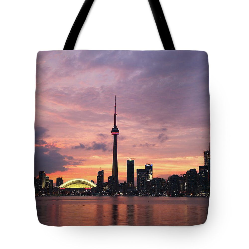 Lake Ontario Tote Bag featuring the photograph Toronto by Js`s Favorite Things