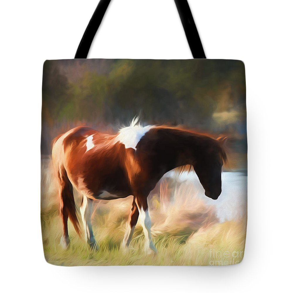 Tote Bag featuring the photograph Totem Animal Book Horse by Laura Atkinson
