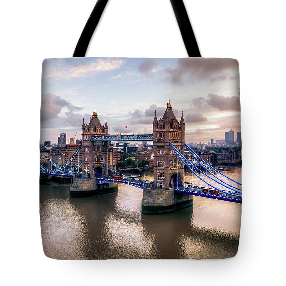 England Tote Bag featuring the photograph Tower Bridge Taken From City Hall by Joe Daniel Price