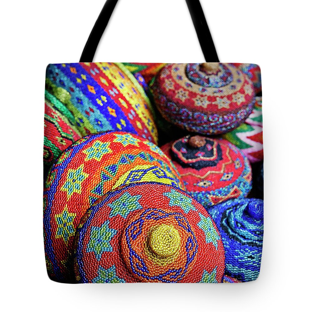 Large Group Of Objects Tote Bag featuring the photograph Traditional Colorful Baskets,bali by John W Banagan