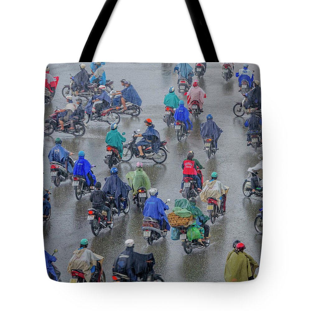 Ho Chi Minh City Tote Bag featuring the photograph Traffic In Ho Chi Minh City by Rwp Uk