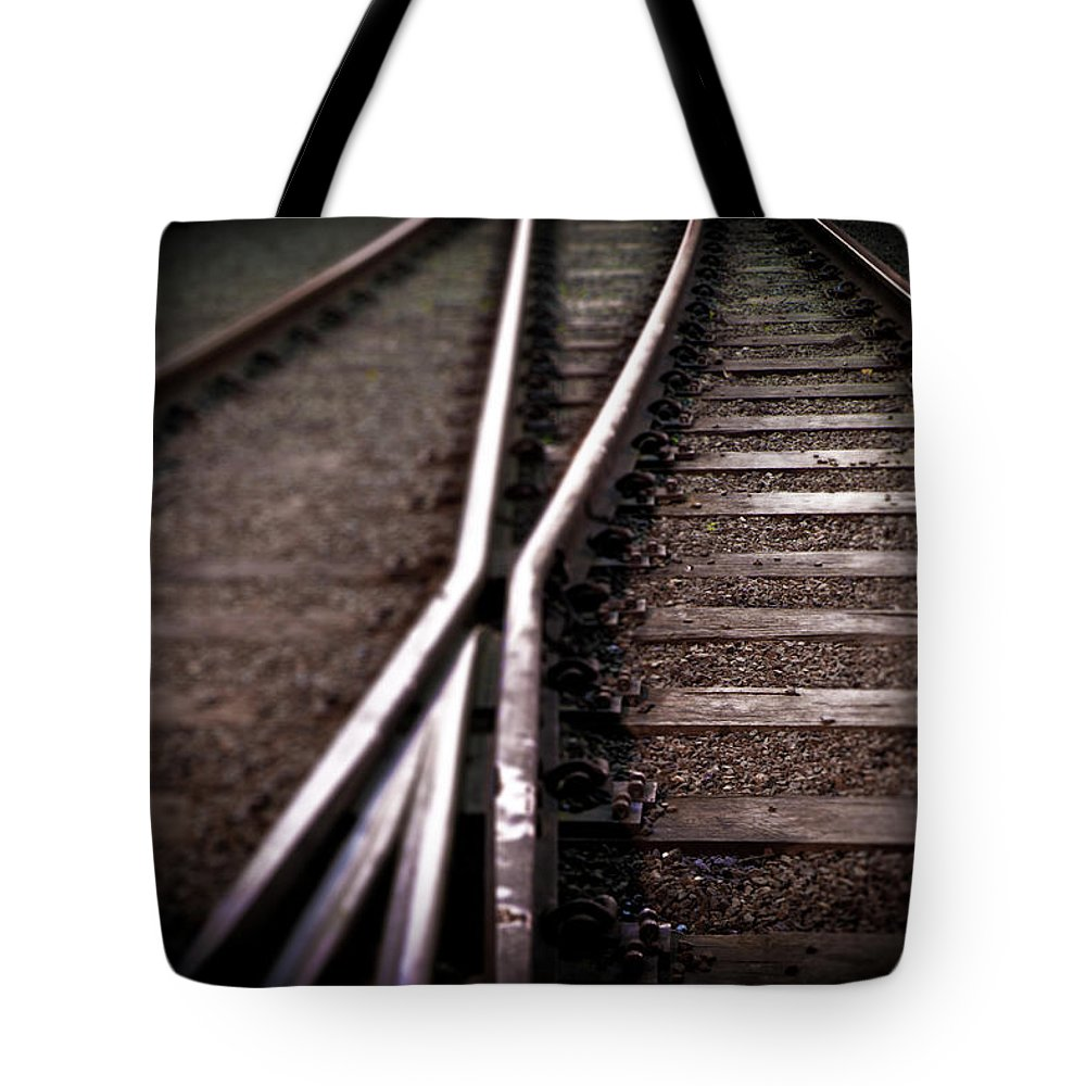 Freight Transportation Tote Bag featuring the photograph Train Line Crossing by Mikulas1