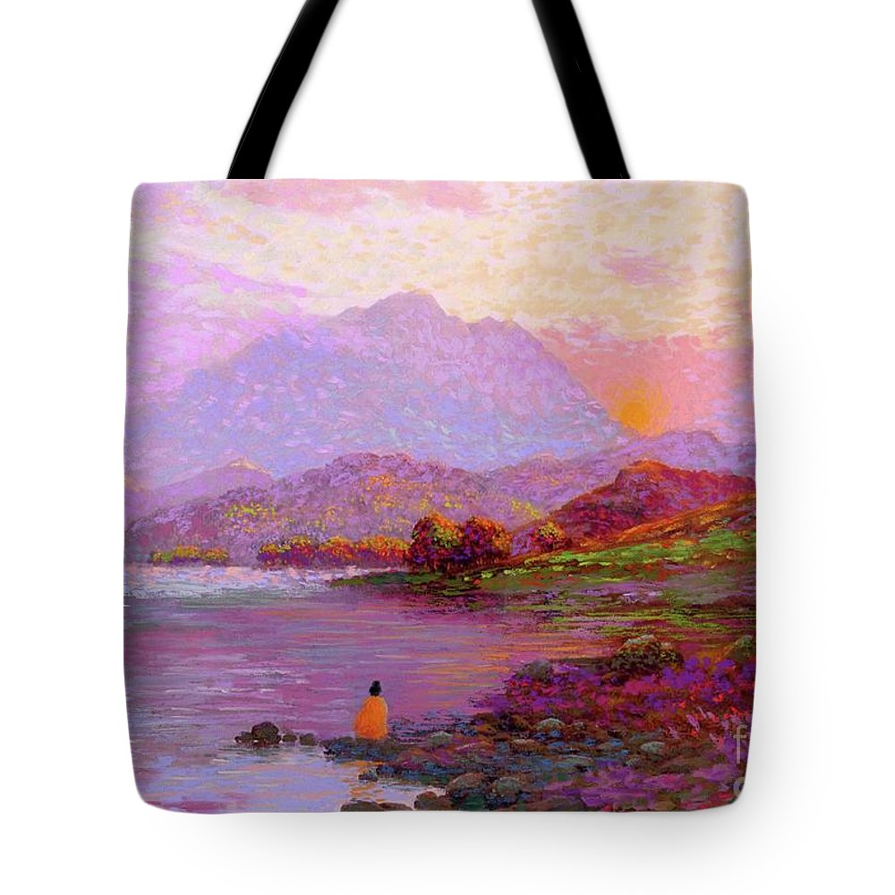 Sun Tote Bag featuring the painting Tranquil Mind by Jane Small