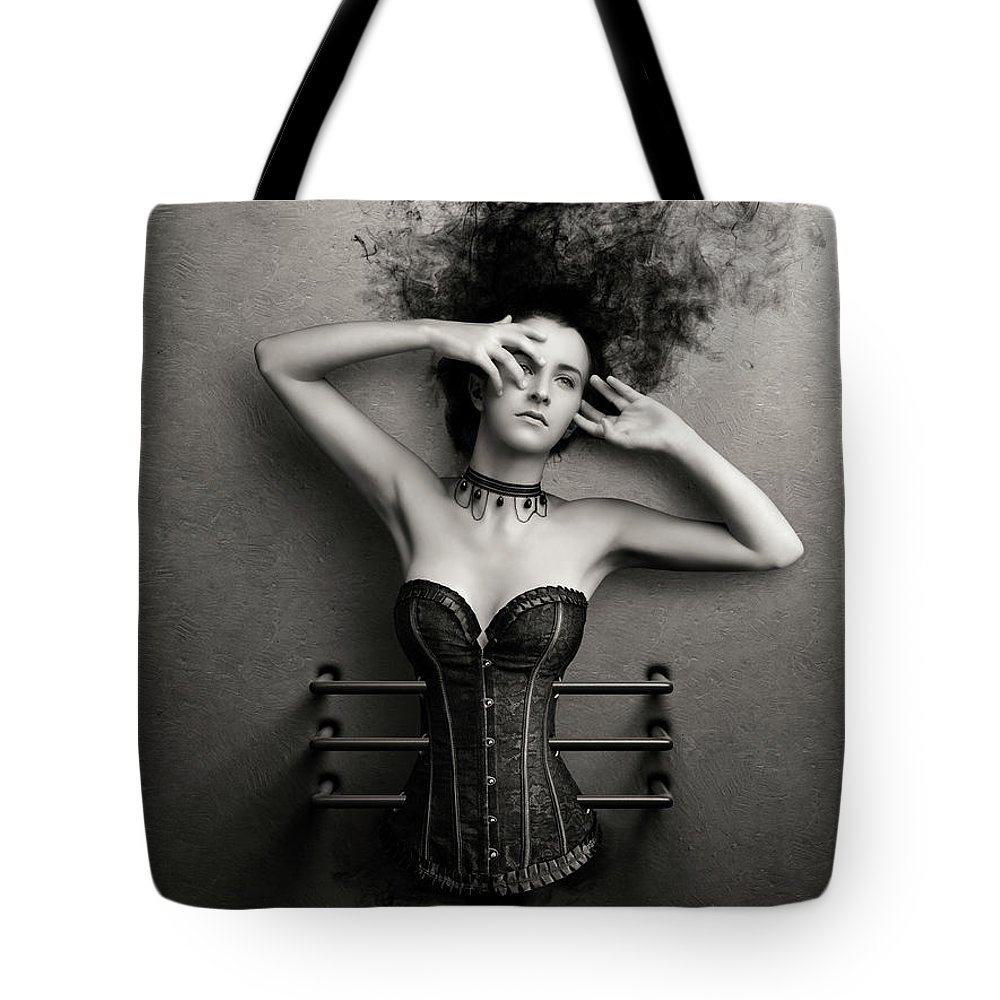 Woman Tote Bag featuring the photograph Trapped by Johan Swanepoel