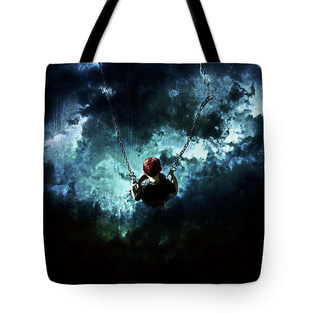 Gothic Tote Bag featuring the digital art Travel Is Dangerous by Mario Sanchez Nevado