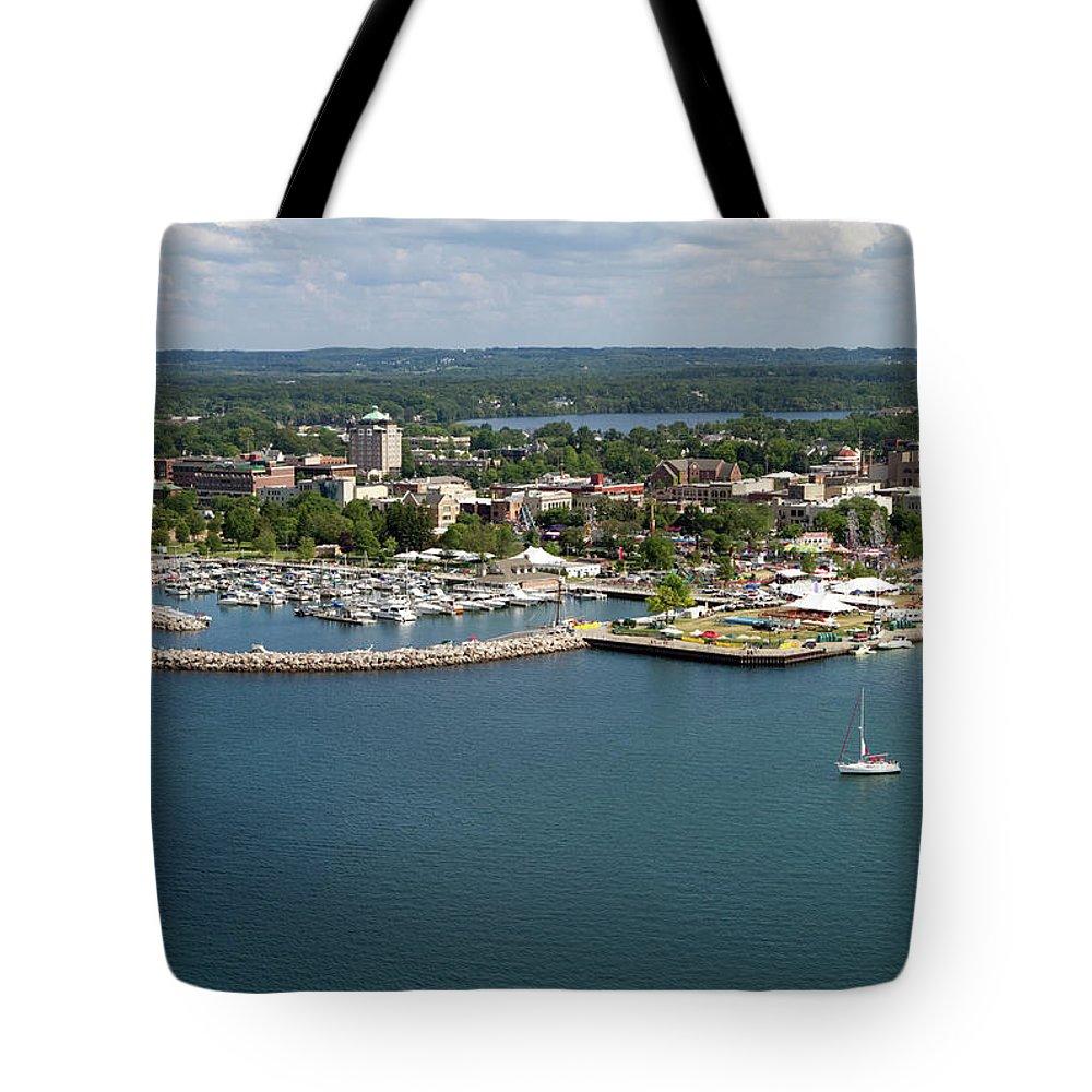 Lake Michigan Tote Bag featuring the photograph Traverse City, Michigan by Ct757fan