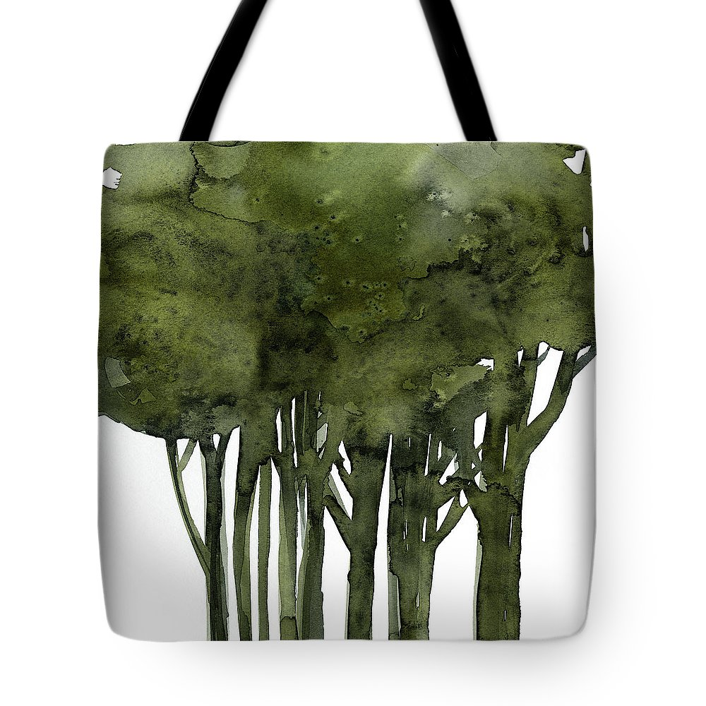 Tree Tote Bag featuring the painting Tree Impressions 1b by Kathy Morton Stanion