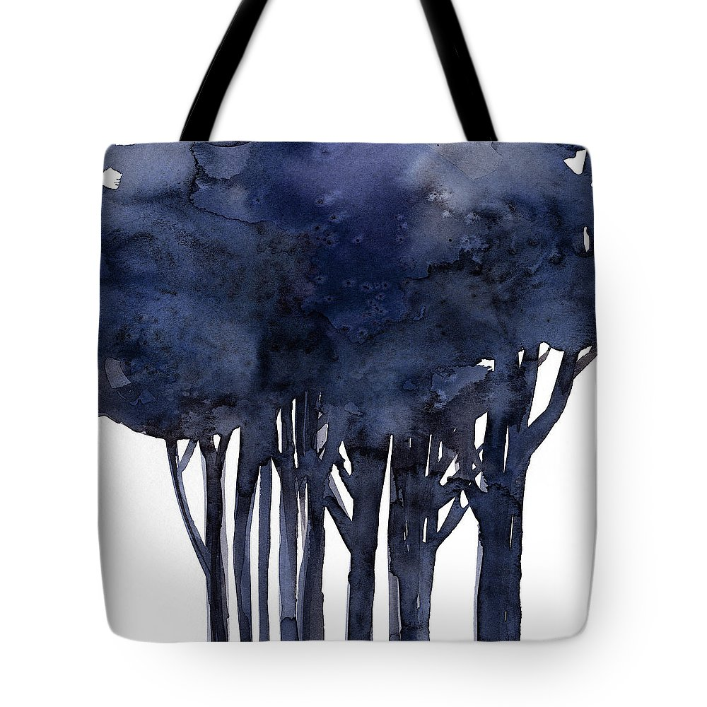 Tree Tote Bag featuring the painting Tree Impressions 1f by Kathy Morton Stanion