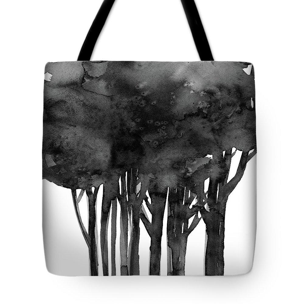Tree Tote Bag featuring the painting Tree Impressions 1l by Kathy Morton Stanion