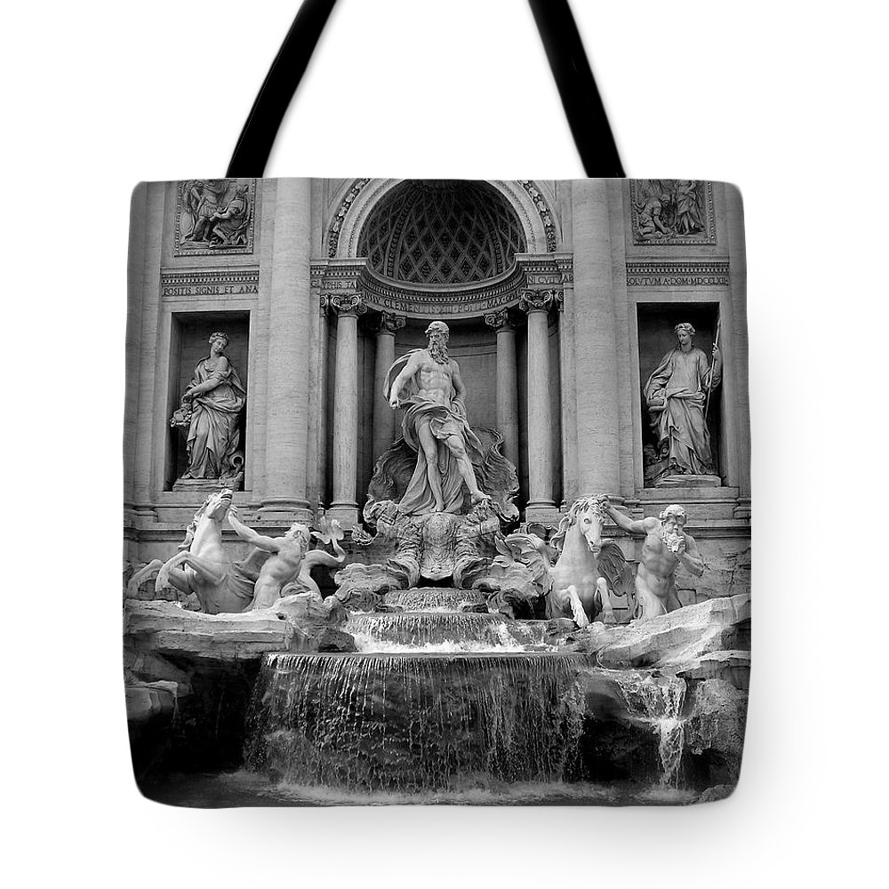 Italy Tote Bag featuring the photograph Trevi Fountain - Fontana Di Trevi by Tiffany Travalent
