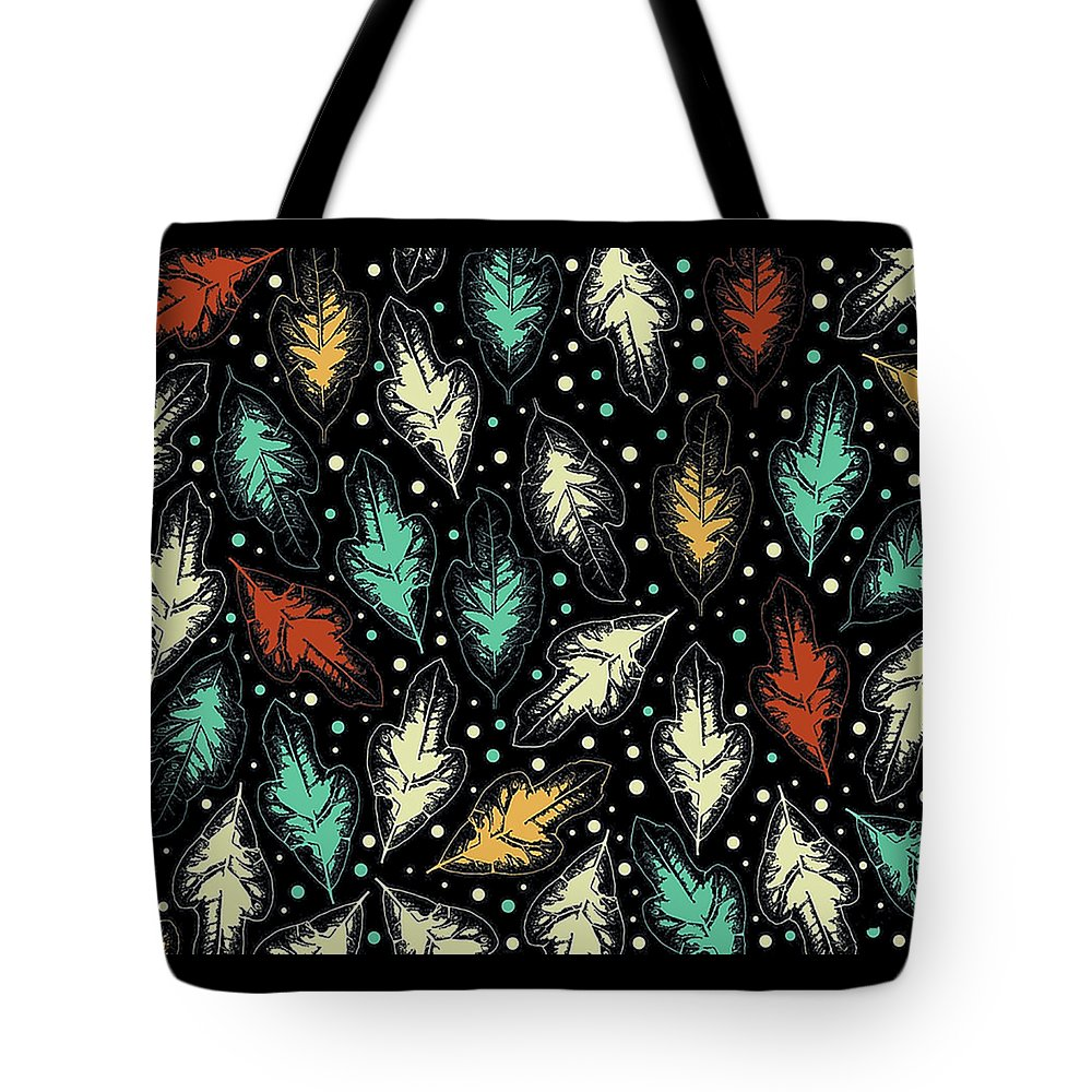 Nature Plants Leaves San Francisco Pattern Tropical Four Seasons Tote Bag featuring the digital art Tropical Design Pattern by Illidan Raven