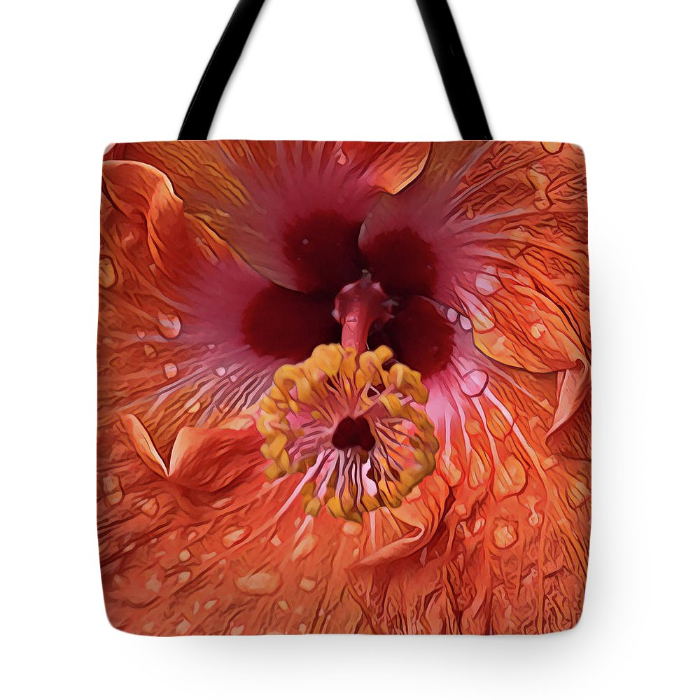 Tote Bag featuring the digital art Tropical Hibiscus by Cindy Greenstein