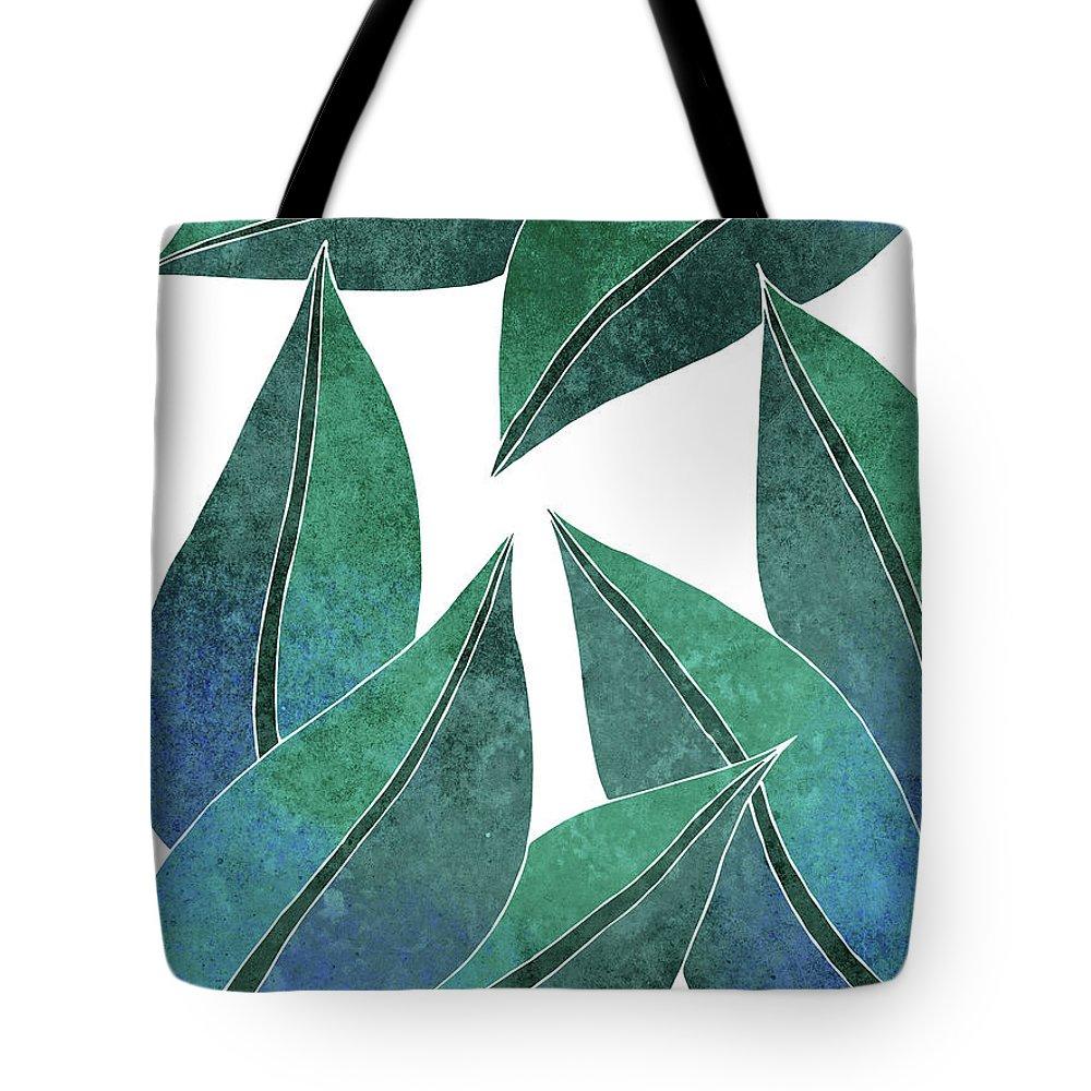 Tropical Leaf Pattern Print Design Unique Modern Tote Bag