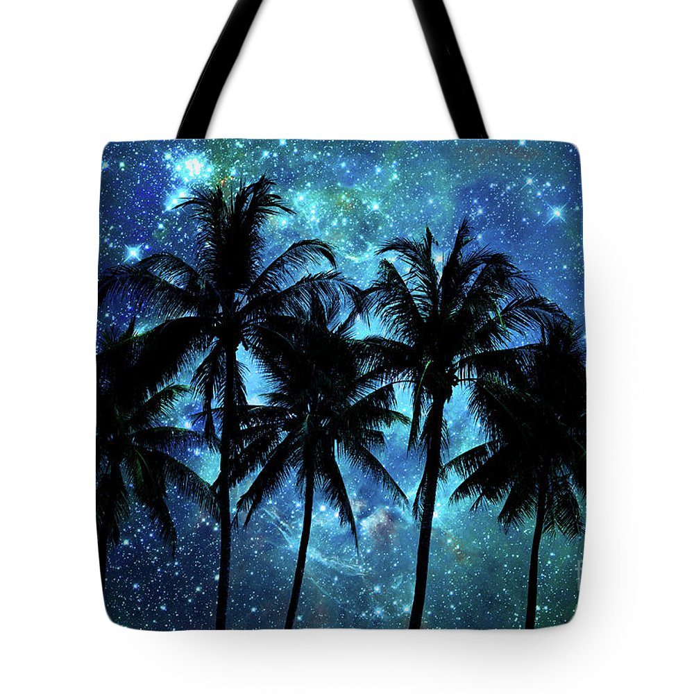 Night Tote Bag featuring the photograph Tropical Night by Delphimages Photo Creations