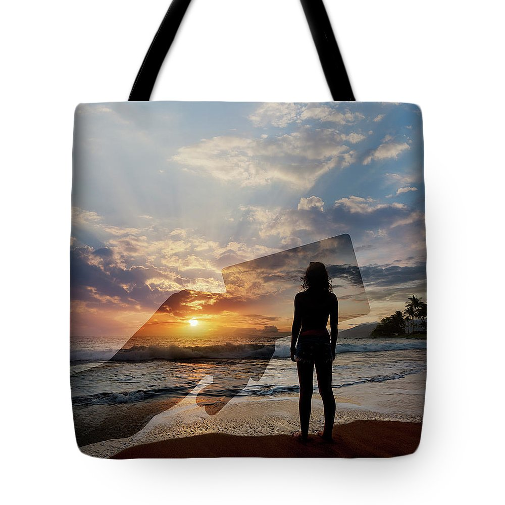 Tranquility Tote Bag featuring the photograph Tropical Vacation Solitude by John Lund