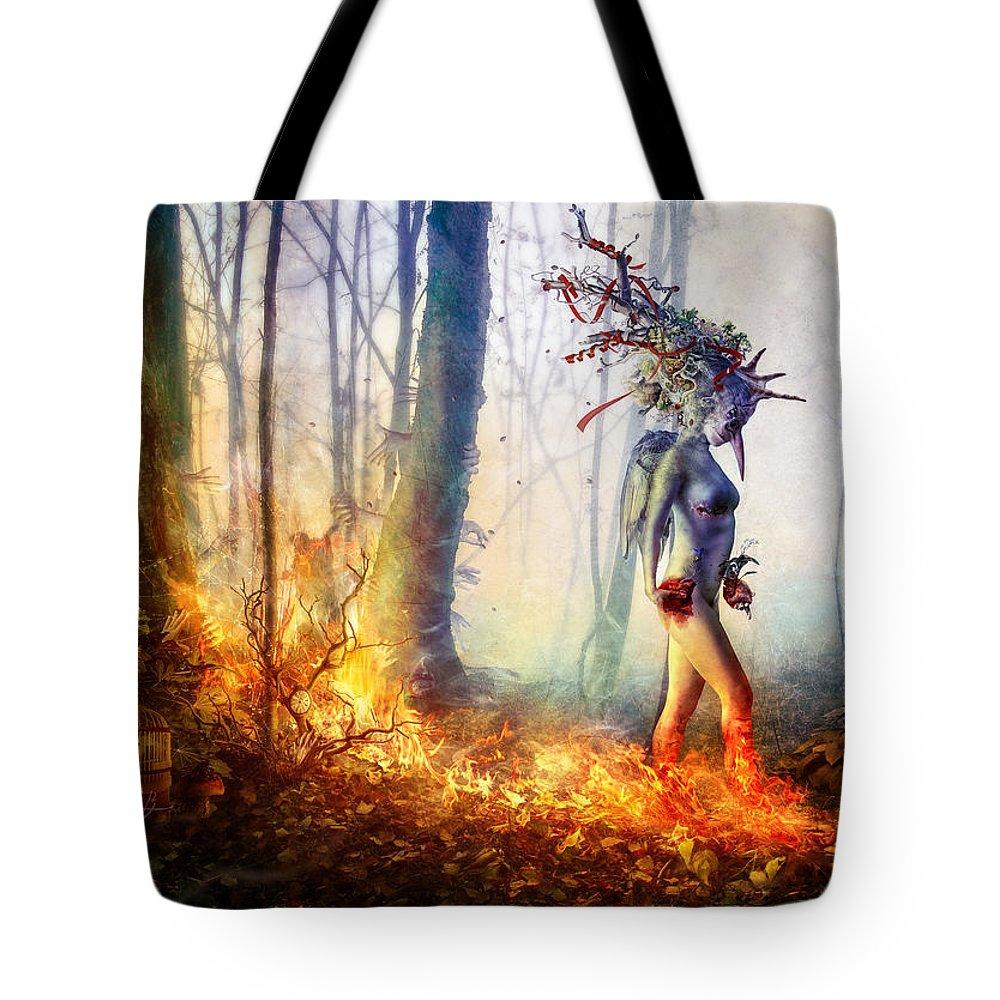 Surreal Tote Bag featuring the digital art Trust In Me by Mario Sanchez Nevado