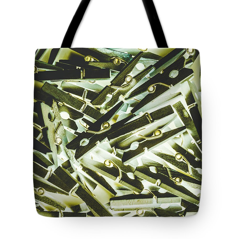 Pegs Tote Bag featuring the photograph Tumble Dry by Jorgo Photography - Wall Art Gallery