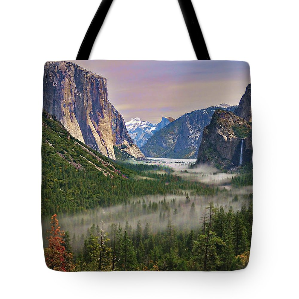 Scenics Tote Bag featuring the photograph Tunnel View. Yosemite. California by Sapna Reddy Photography