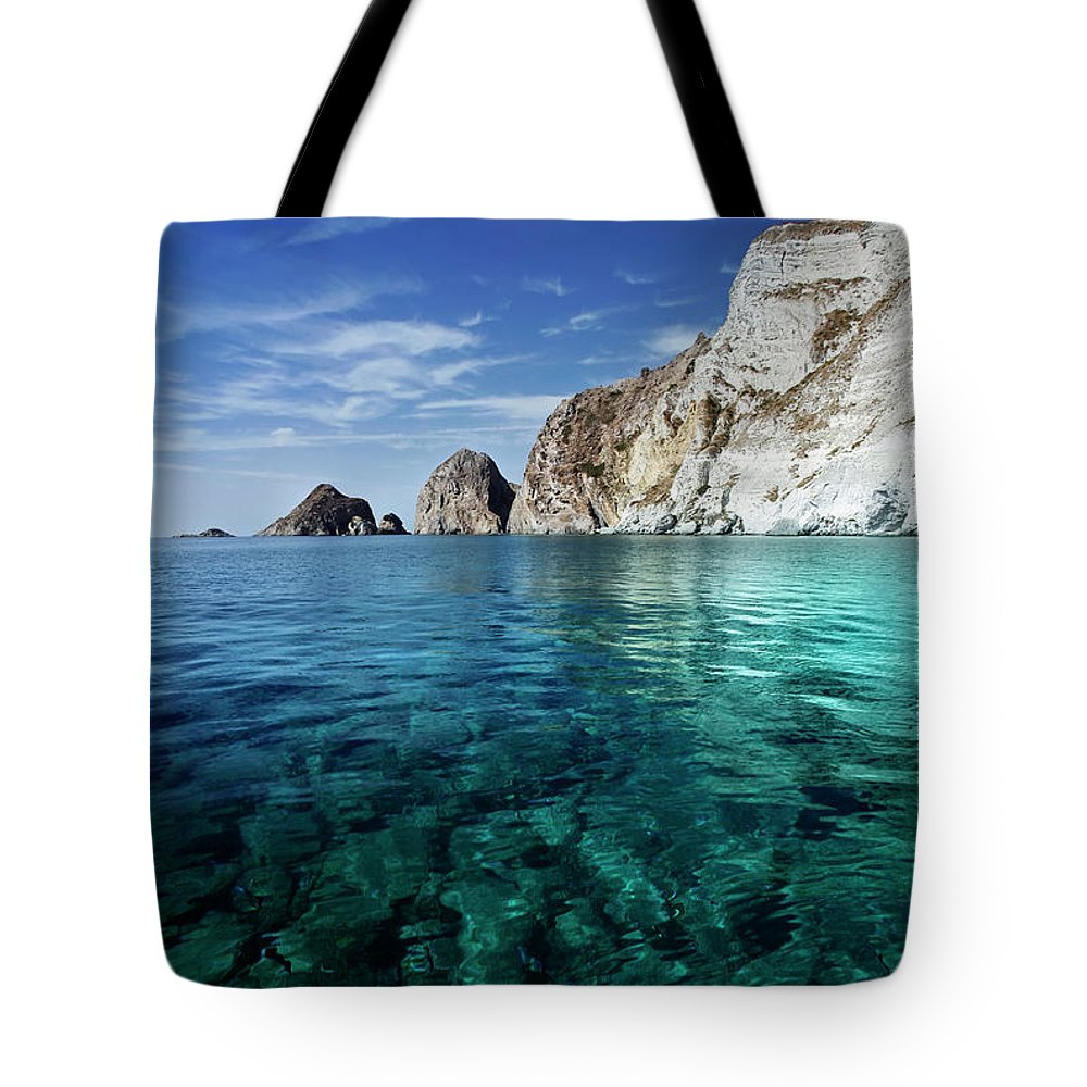 Scenics Tote Bag featuring the photograph Typical Mediterranean Sea In Italy by Piola666