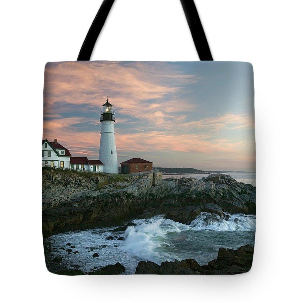 Scenics Tote Bag featuring the photograph Usa, Maine, Cape Elizabeth, Portland by Visionsofamerica/joe Sohm