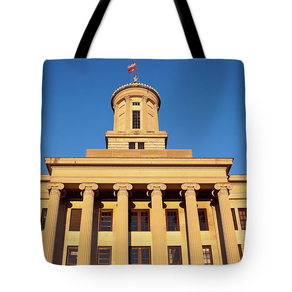 Clear Sky Tote Bag featuring the photograph Usa, Tennessee, Nashville, State by Henryk Sadura