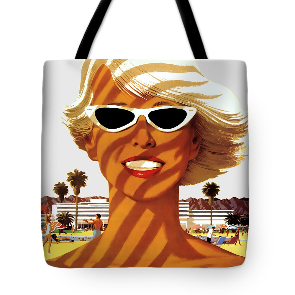 Vintage Travel Tote Bag featuring the photograph Vacation Sunshine - T-shirt by Daniel Hagerman