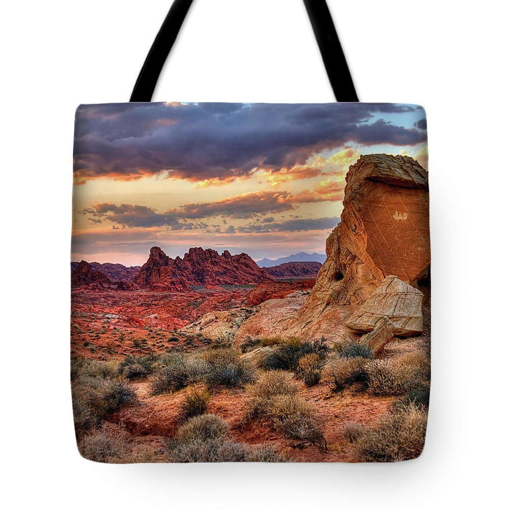 Valley Of Fire Tote Bag featuring the photograph Valley Of Fire by James Anderson