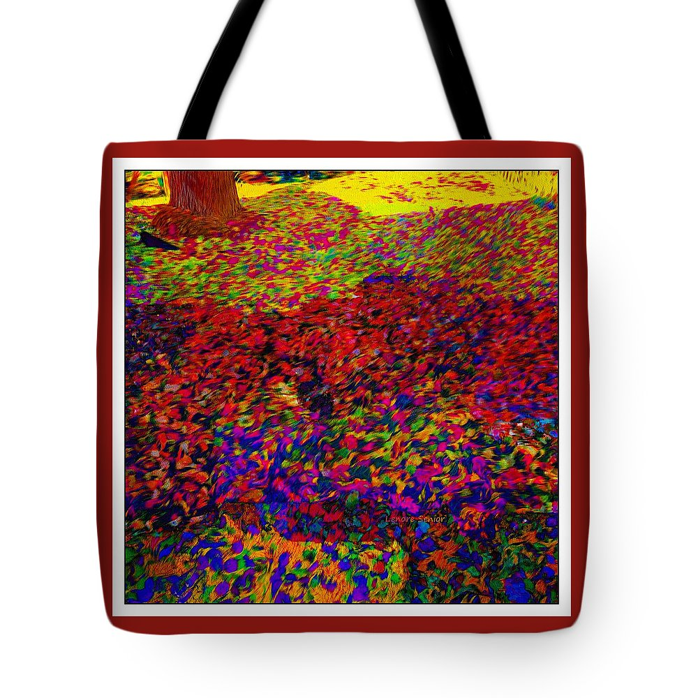 Abstract Tote Bag featuring the photograph Van Gogh Visits My Back Yard by Lenore Senior