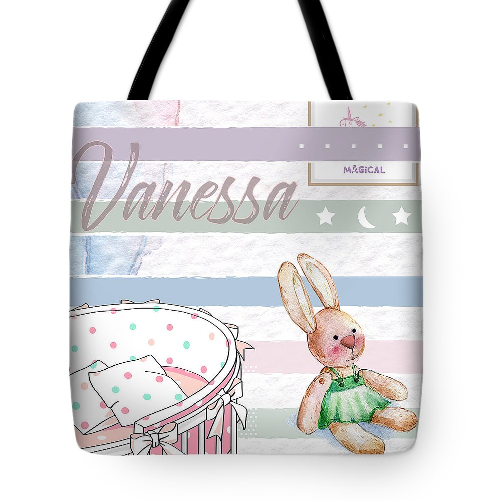 Tote Bag featuring the digital art Vanessa by Claire Tingen