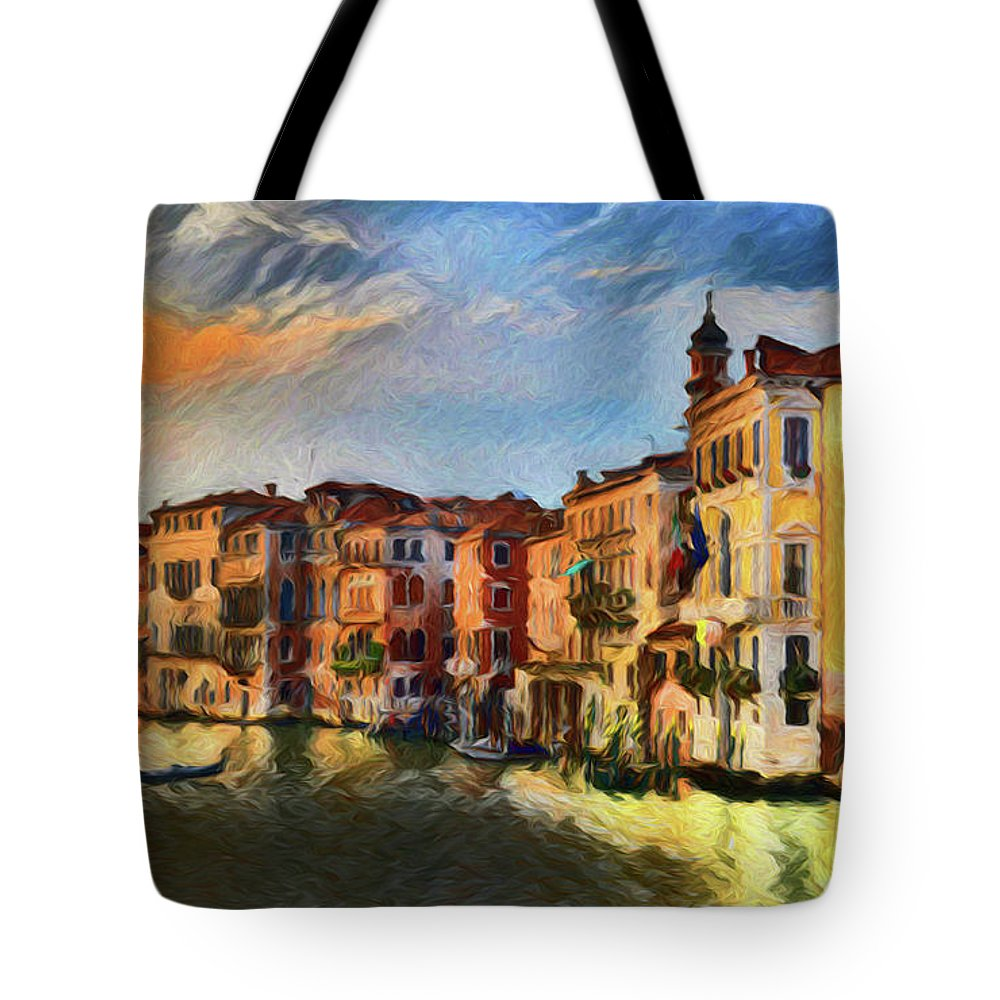 Venice A8-1 Tote Bag featuring the photograph Venice A8-1 by Ray Shrewsberry