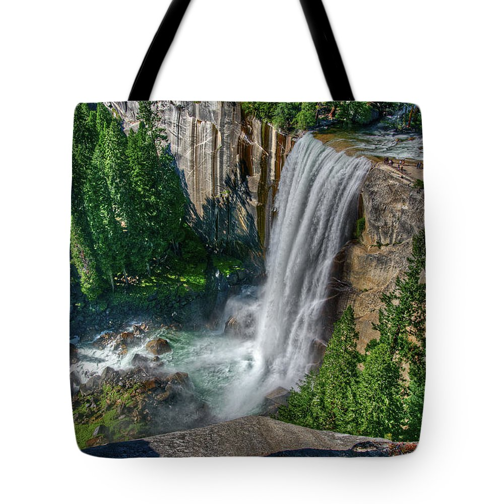 Scenics Tote Bag featuring the photograph Vernal Falls by Aaron Meyers